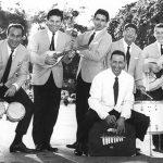 Da sinistra: Gianni Tozzi, Aldo Pagani, Piero Giorgetti, Renato carosone (con dietro Gegè Di Giacomo), Raf Montrasio, Tonino Grottola - Habana Novembre 1957