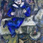 Marc Chagall Accordion, ca. 1912/14  Gouache, watercolor, and crayon on paper, 665 x 522  Bequest of  Simon and Tekla Bond B03.0082  Coll. IMJ