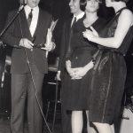 Anni '60 Angela con Mike Bongiorno e Wilma Roy ad un festival della canzone