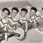 """1954 Aldo e i """"Marinos Ritmos"""", gruppo formato da musicisti della Banda della Marina Militare. Concerto a Cagliari"""