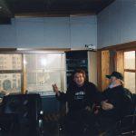 2000 Aldo Pagani e Tullio De Piscopo in studio di registrazione. Milano