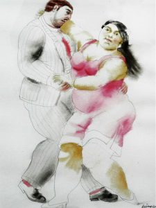 Tango-dancers-pencil-and-watercolor-on-paper-40x29.5-cm-2010