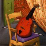 Still-Life-with-Violin-Fernando-Botero-oil-painting-1