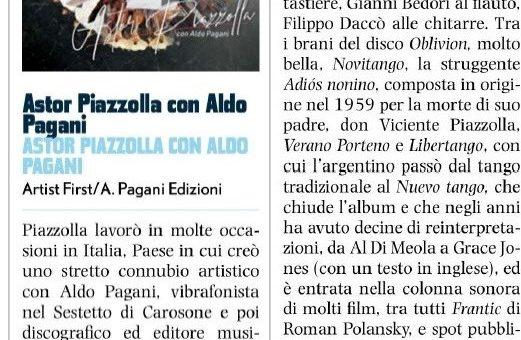 Astor Piazzolla con Aldo Pagani – La bellissima recensione su Vinile